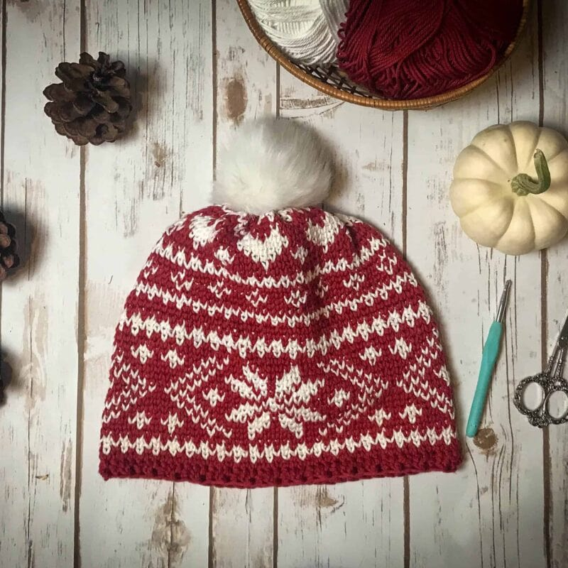 Fair Isle Crochet Beanie Pattern