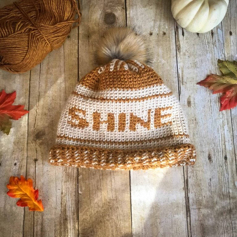 Shine Crochet Beanie by Stardust Gold Crochet