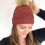 Lyra Beanie by Stardust Gold crochet