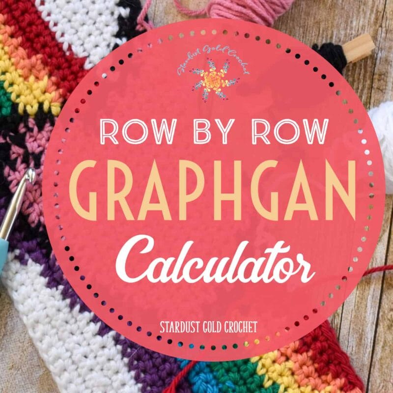 Row by Row Crochet Blanket Size Calculator