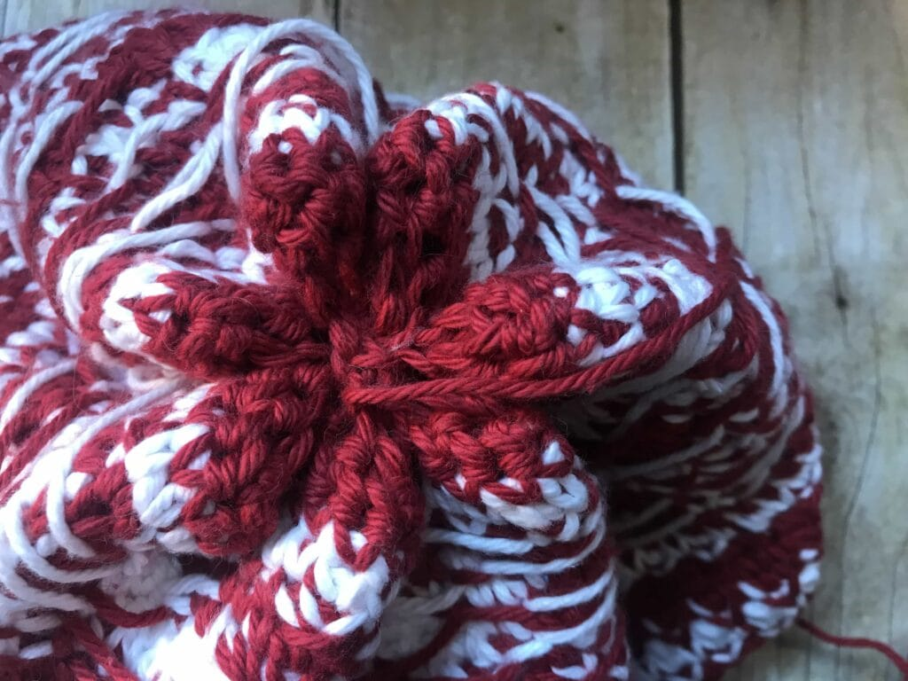 Fair Isle Crochet Top of Hat Assembly