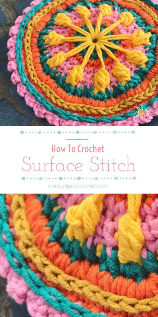 crochet surface stitch pinterest pin