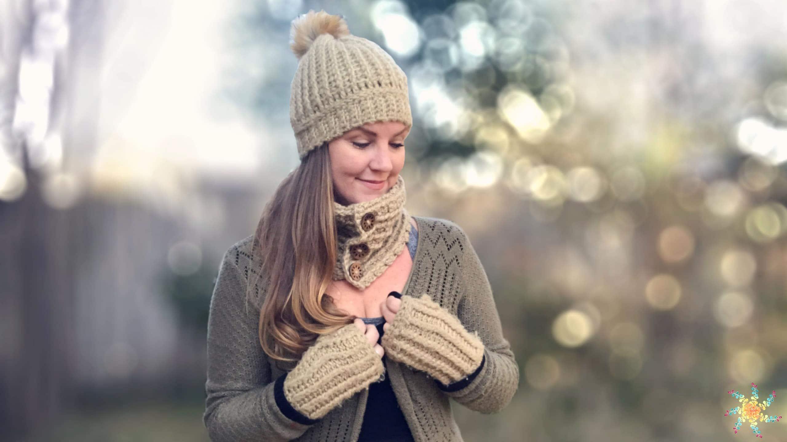 Fuzzy Bee Crochet Winter Set