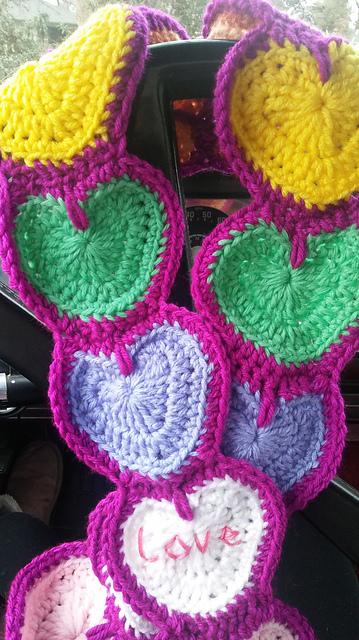 Airamaria Candy Hearts Crochet Heart Pattern