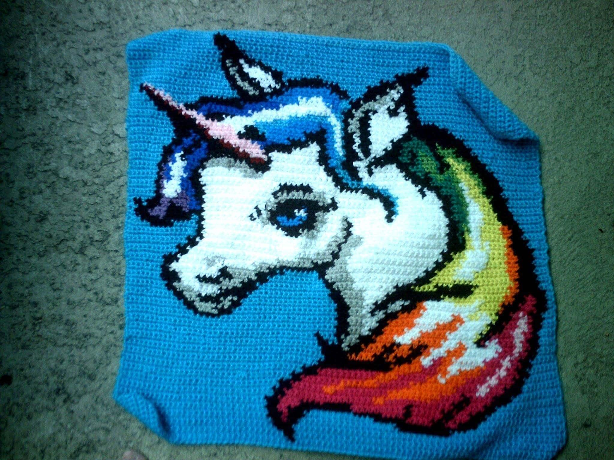Rainbow Unicorn Graph by Stardust Gold Crochet