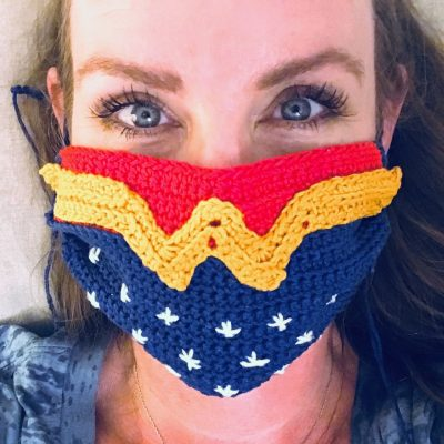 Wonder Woman Crochet Mask Cover