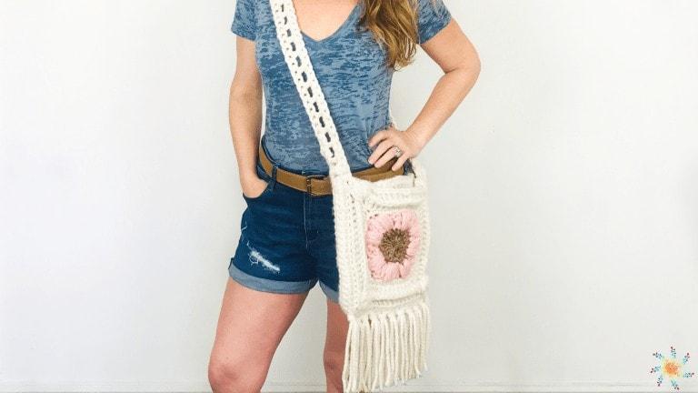 Summer Flowers Bohemian Messenger Bag