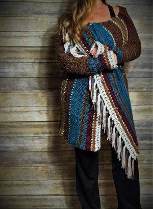 Navajo Blanket Cardigan Front