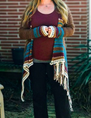 Navajo Blanket Cardigan Crochet Pattern
