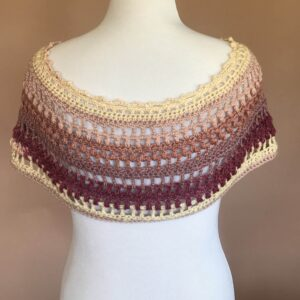 Ara Poncho Crochet Pattern (Back)