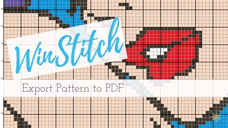 Winstitch export to PDF