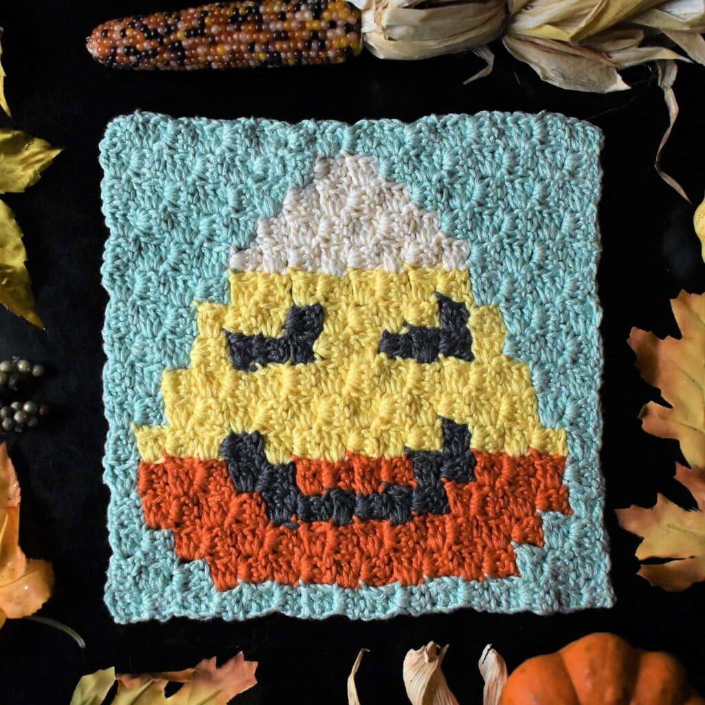 Candy Corn C2C Halloween Square