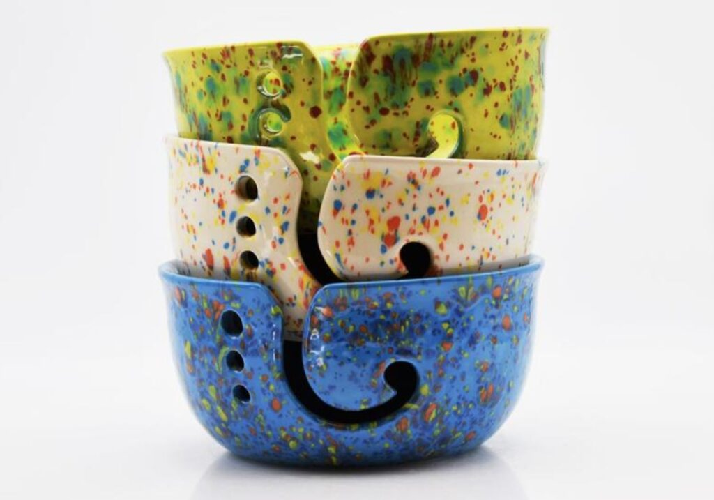 Ceramic Yarn Bowl by 2nd Shop
