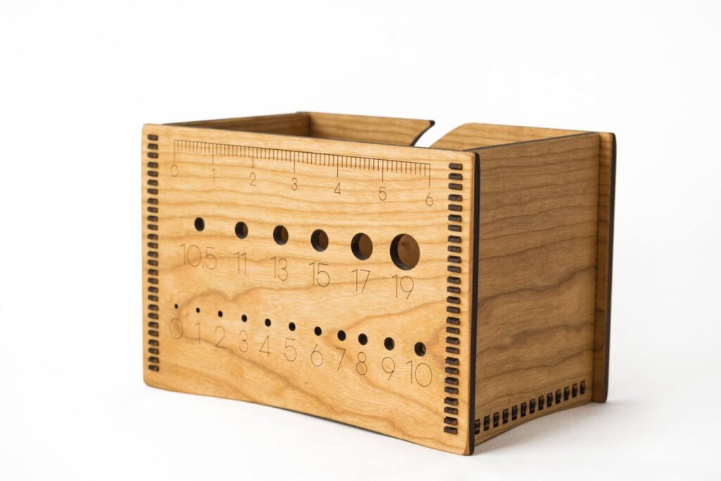 Wooden Yarn Box by Ideas in Wood