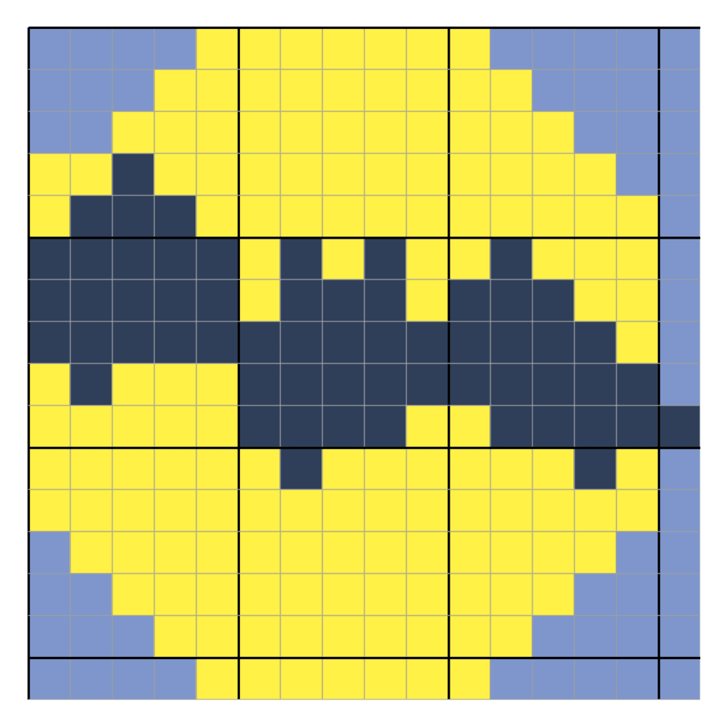 Bat in the Moon C2C Square graph