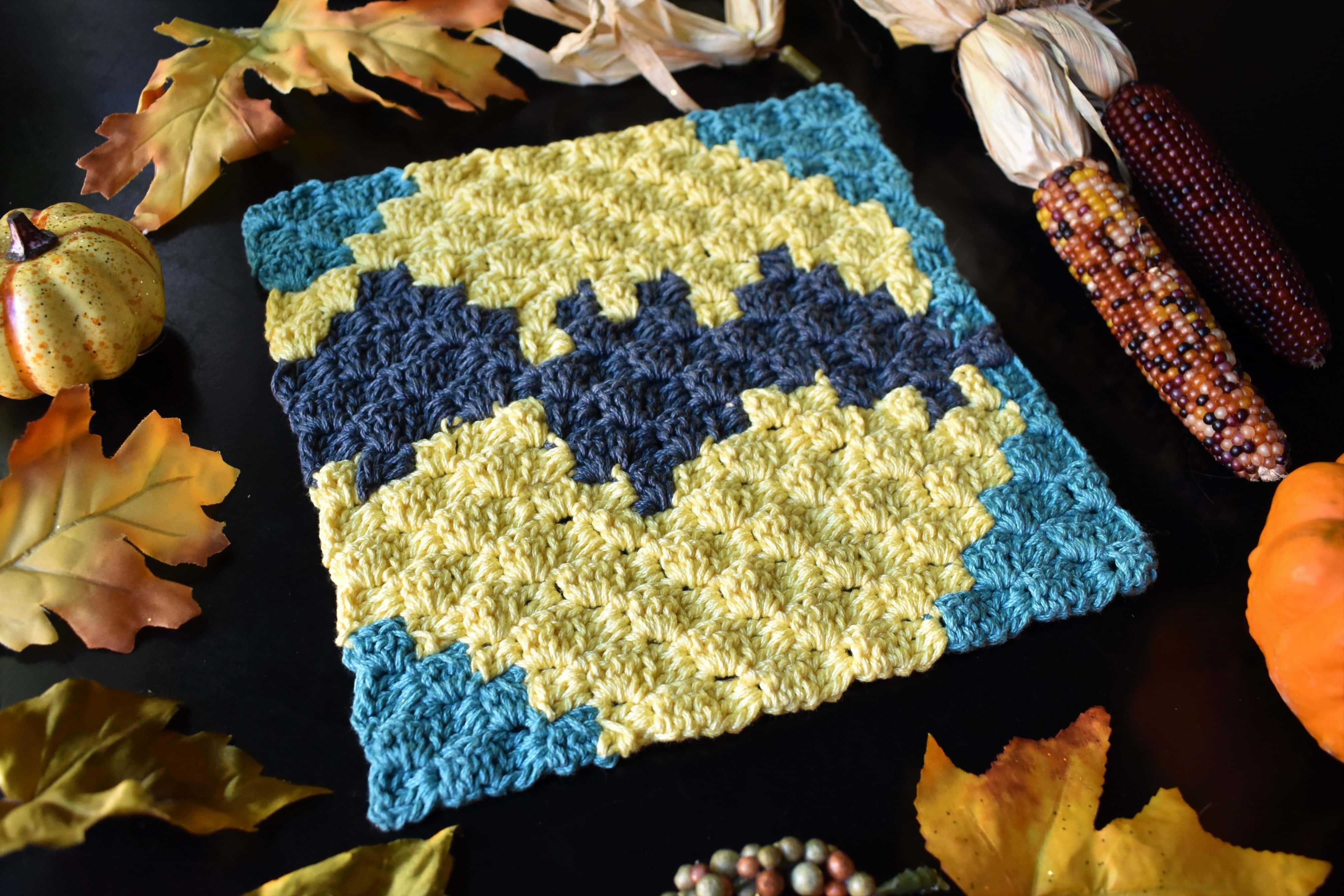 Bat in the Moon C2C Square