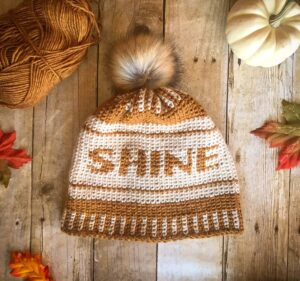 Shine Crochet Beanie (11)