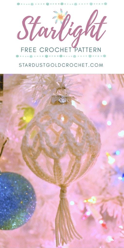 Starlight Crochet Ornament Pin
