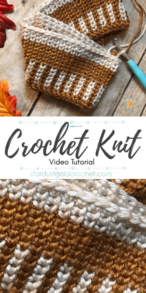 Learn to crochet the knit stitch