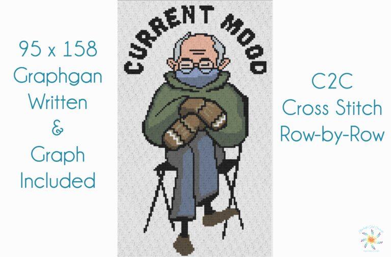 Bernie Sanders Crochet Pattern C2C Inaugeration
