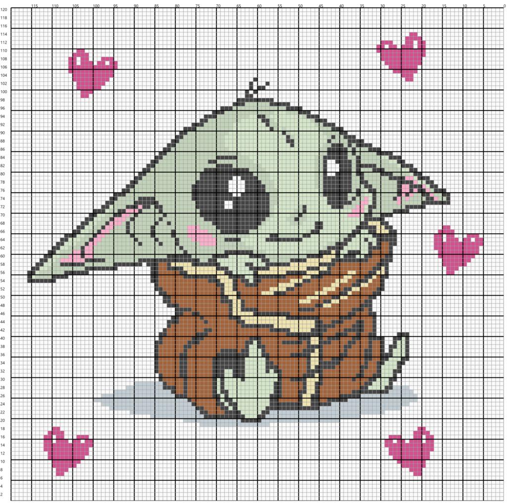 Baby Yoda C2C Grid Graph
