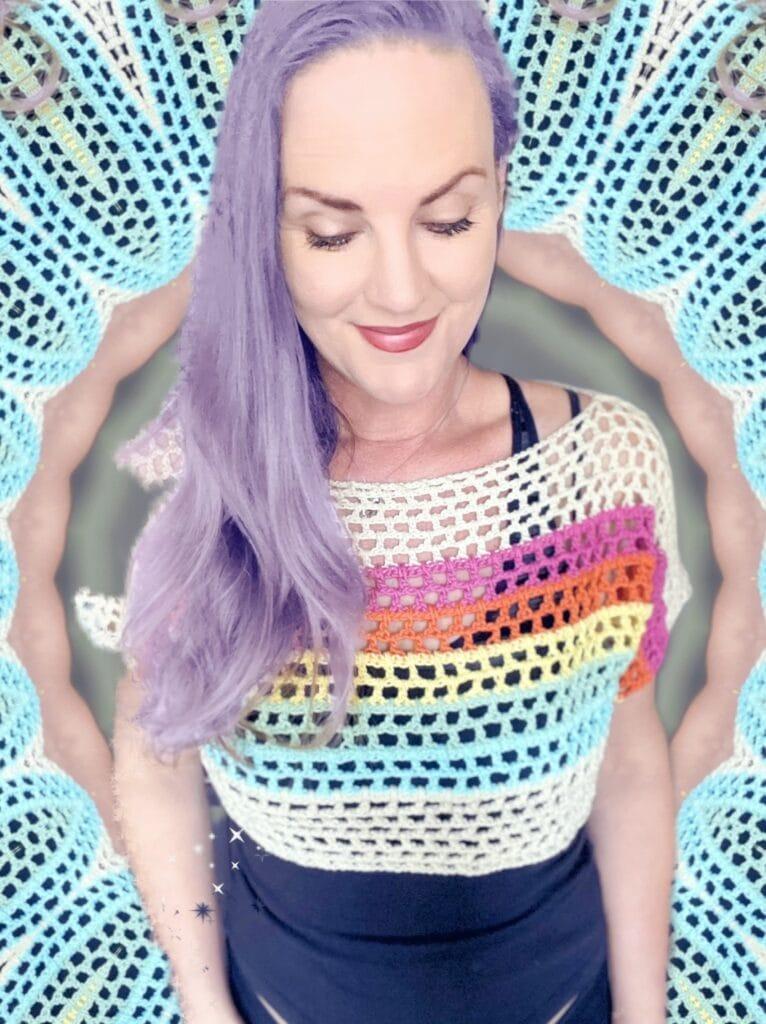 Rainbow Mesh Crochet Crop Top Pattern (3)