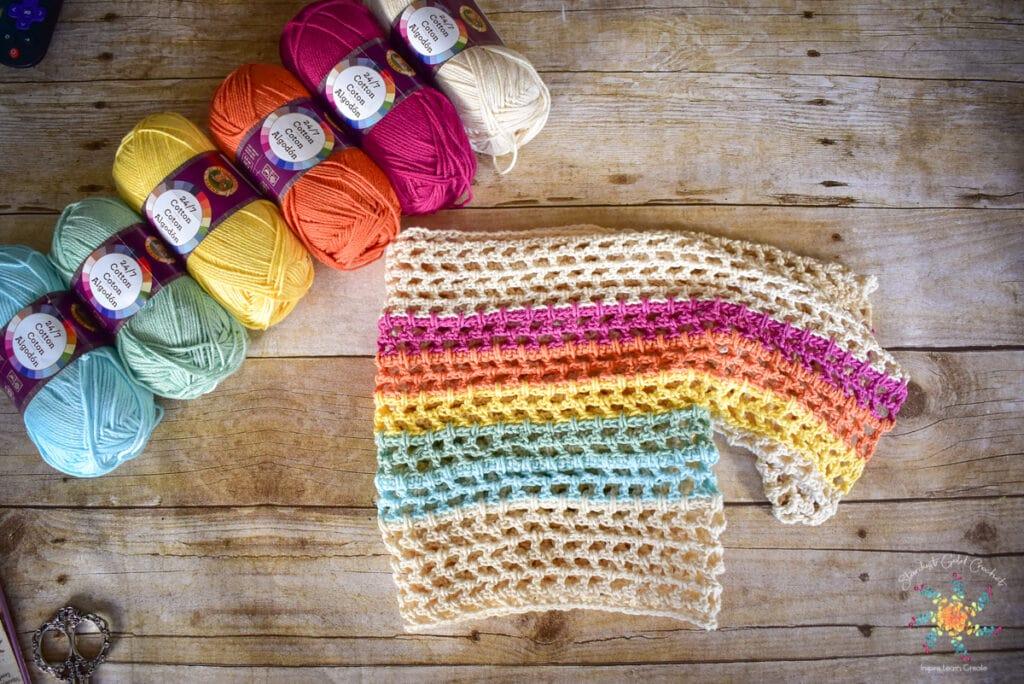 Rainbow Mesh Crochet Crop Top Pattern (31 of 56)