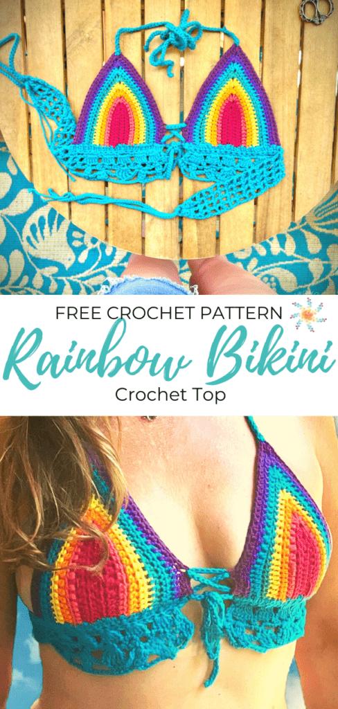 Rainbow Crochet Bikini Top Pinterest Pin Blue (1)