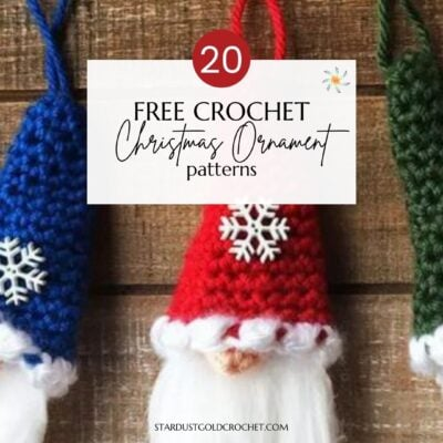 3 little crochet christmas gnomes with 20 free crochet christmas patterns